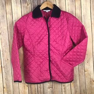 Brooks Brothers girls pink quilted jacket LARGE